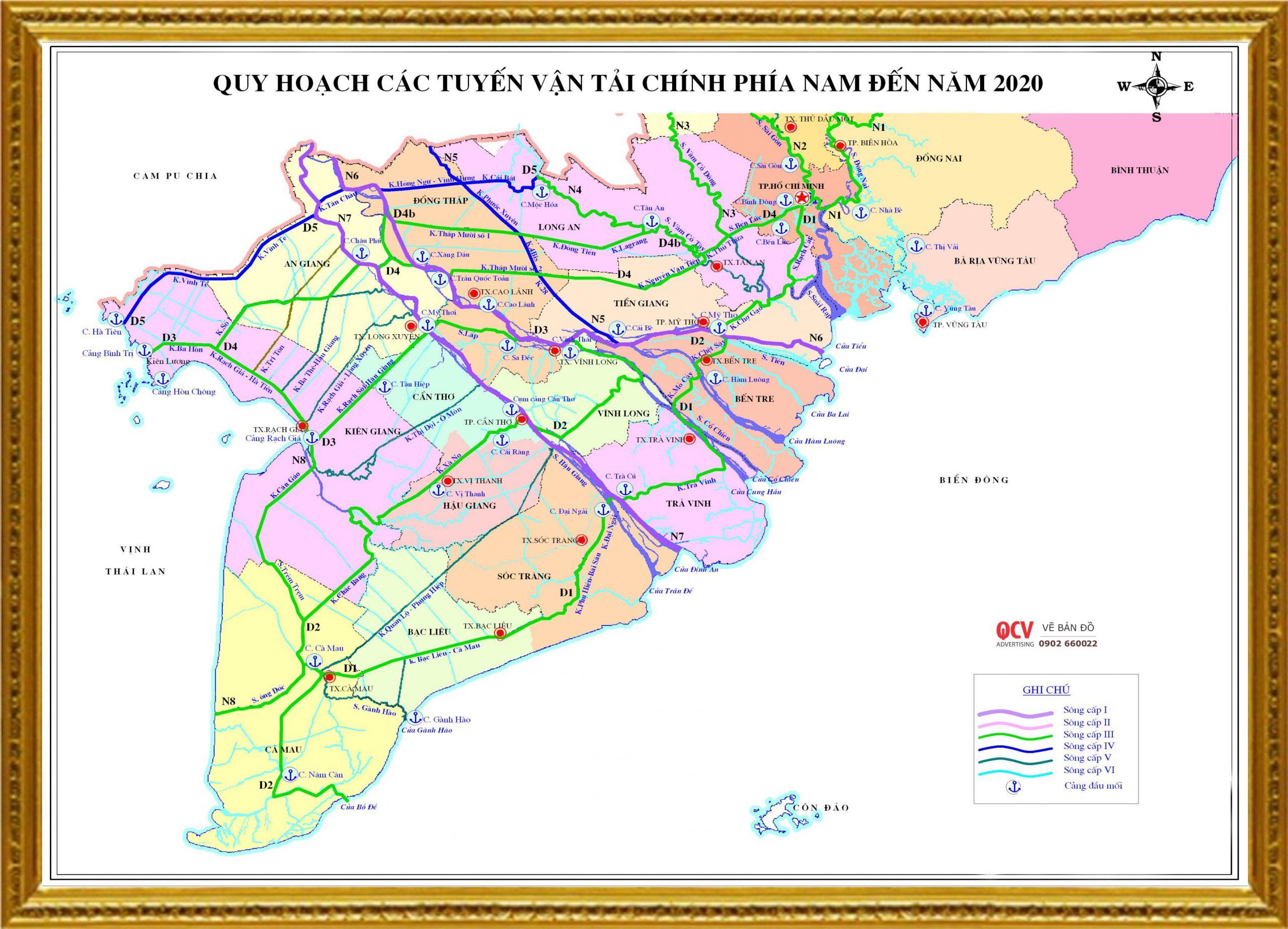 Bản đồ quy hoạch giao thông vận tải tại 13 tỉnh Miền Tây