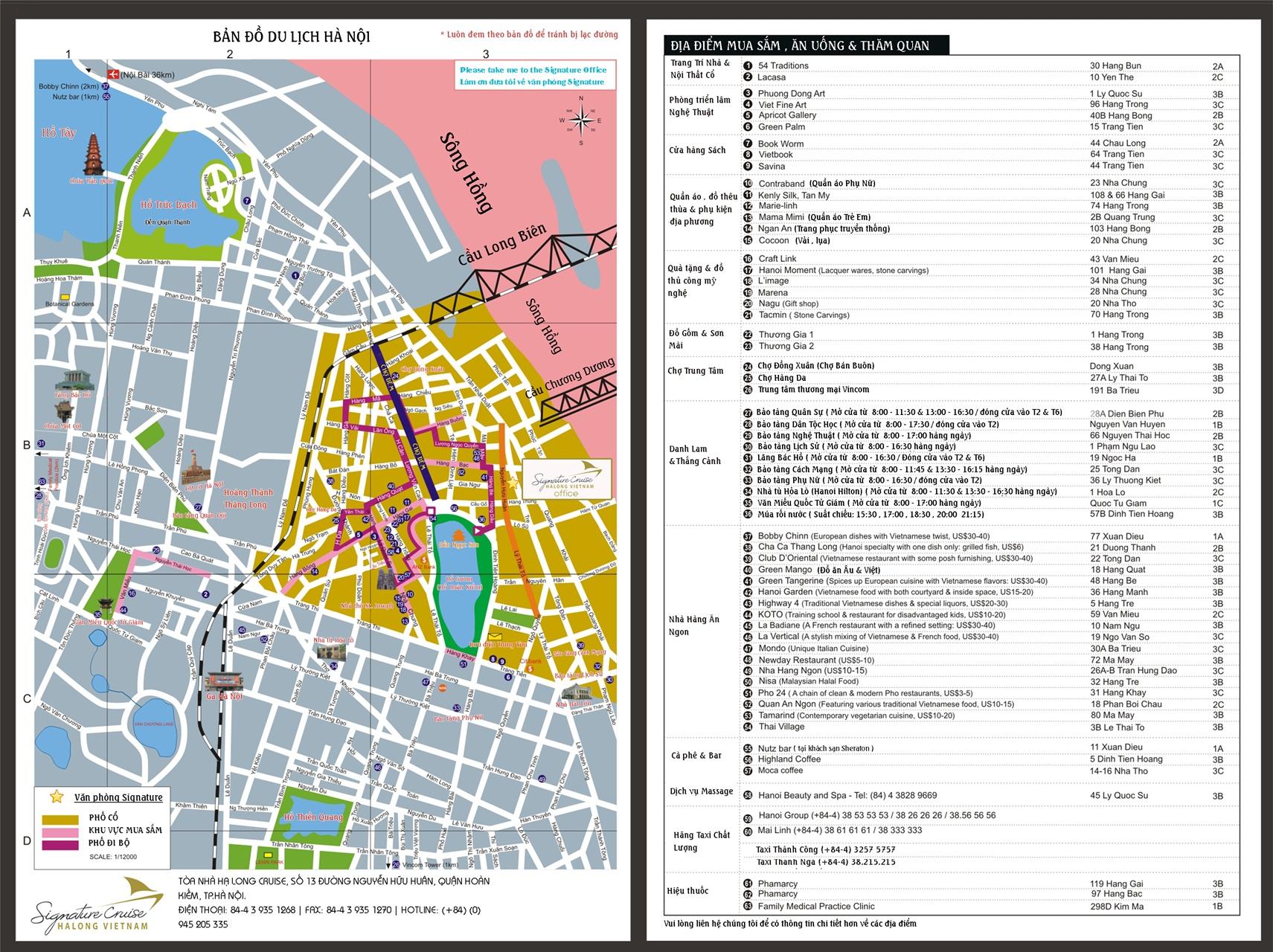 Bản đồ du lịch thành phố Hà Nội